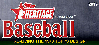 2019 Topps Heritage Cards U Pick #1 - 300 Free Combined Shipping!!