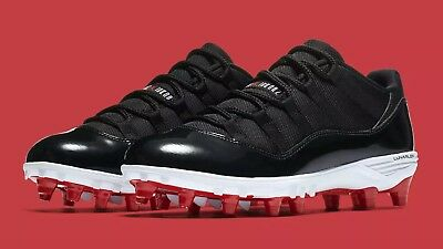 official photos 692c1 fea7d NEW NIKE JORDAN XI Retro Low TD Football Cleats Sz 8 Black-White-Red  Concord #23