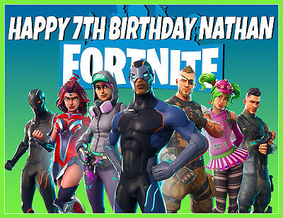 FORTNITE S4 PREMIUM QUALITY Icing Image Cake Topper PERSONALISED