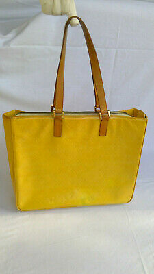 7ac2d2a1da53 Louis Vuitton Authentic Vernis Patent Yellow Shopper Shoulder Tote No  Reserve