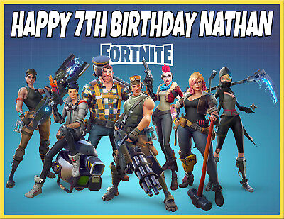 FORTNITE STW PREMIUM QUALITY Icing Image Cake Topper PERSONALISED