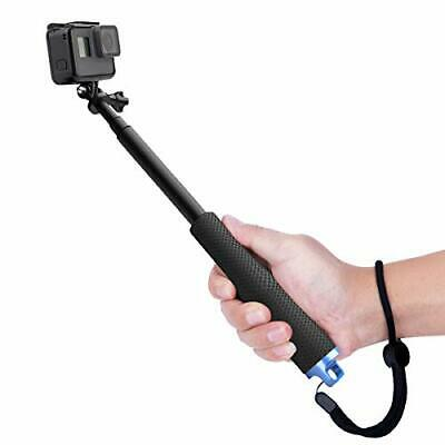Selfie Stick Adjustable Telescoping Monopod Pole for Gopro Hero 5 Sessions Black