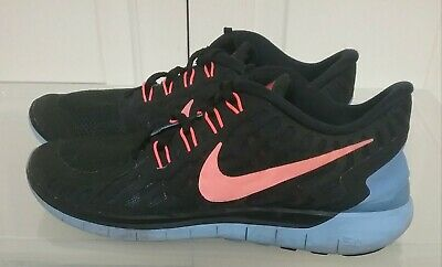 fe540606917f Nike Women s Shoes Free 5.0 Running Barefoot Ride Black Orange 724383-008 Sz  9.5