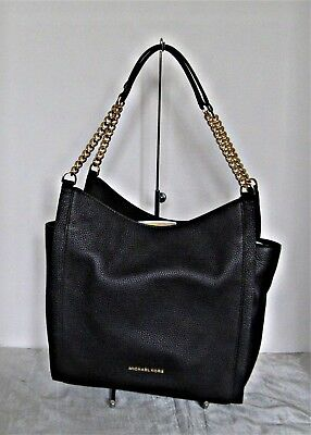 04aa8cf41359 MICHAEL KORS NEWBURY Medium Chain Shoulder Tote Oyster Pebbled ...