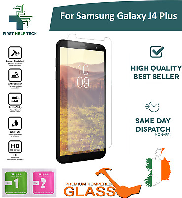 For Samsung Galaxy J4 Plus Tempered Glass Screen Protector Guard Cover New