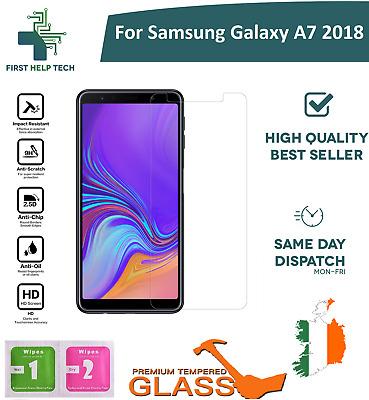 For Samsung Galaxy A7 2018 Tempered Glass Screen Protector Guard Cover New