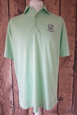 "Peter Millar Golf Polo Shirt St Andrews Old Course Green Medium 46"" Chest"