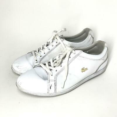 a3afda880 LACOSTE Rey Lace 317 Women s Leather Sneakers White Sz 7