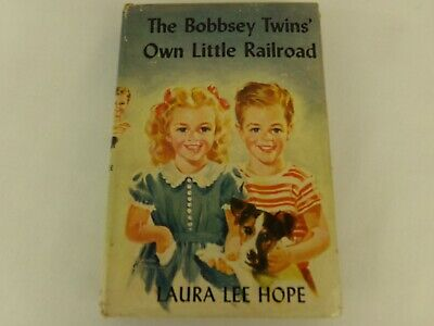 The Bobbsey Twins' Own Little Railroad Hardcover Book Dust Cover 1951