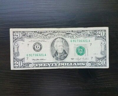 1993 SERIES $20 US Federal Reserve Note Twenty Dollar Bill Old Currency