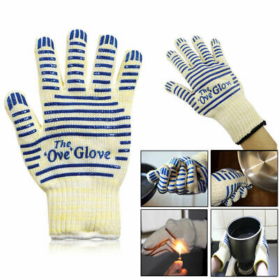 Oven Gloves Single/Pair Silicon BBQ Kitchen Heat Proof Mitts Hot Surface Handler