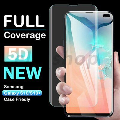 5D For Samsung Galaxy S10+ S9 Plus Tempered Glass Full Cover Screen Protector 9H