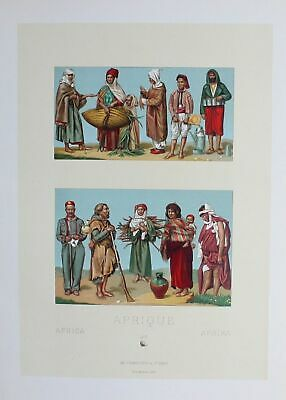 1880 - Tunesia Algeria Tracht costumes Africa Afrika Lithographie lithograph