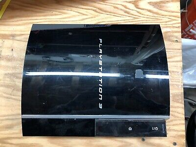 Sony PlayStation 3 60GB Piano Black Console (CECHH01) YLOD For Parts or Repair
