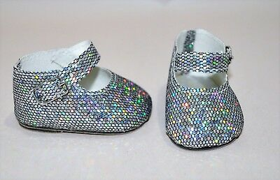 American Girl Dolls Clothes Our Generation 18 Doll Clothes Silver Glitter Shoes