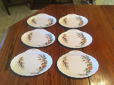 "Set of 6 Vintage, Grindley Marlborough Royal Petal, ""Rosalind"" Pattern Plates"
