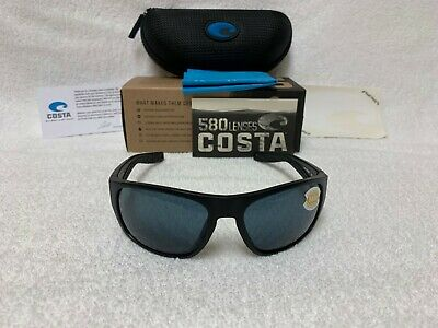0e90ef50274a2 NEW Costa Del Mar Tico Polarized Sunglasses Matte Black   Gray 580P TCO 11  OGP