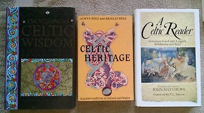 3 Lot Celtic Heritage Reader Wisdom Shaman Legend Mythology Ireland Wales Rees