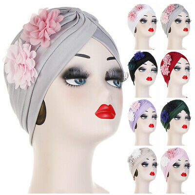 Women Flowers Indian Caps Muslim Turban Hat Cancer Chemo Cap Hijab Head Wrap New