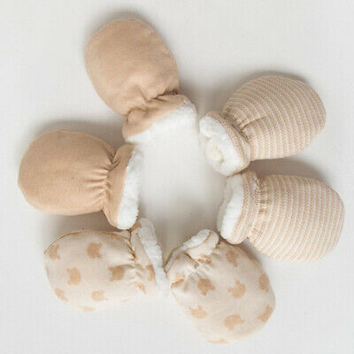 Anti-grab Mittens Gloves For Newborn Baby Hand Warmer Cute Gift Winter
