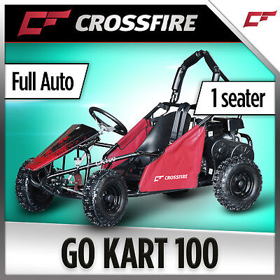 Crossfire Go Kart 100cc - Kids Buggy, Safety Harness, Roll Bar, Fully automtic