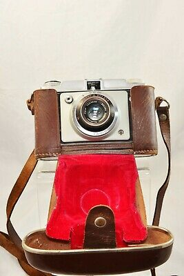 Vintage Dignette Dacora 35mm camera with leather case made in German 50-60s