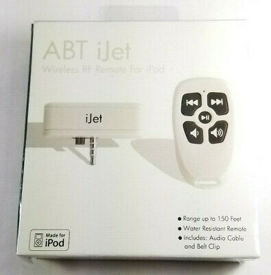 ABT iJet Wireless RF Remote For iPod Classic - SEALED! NEW!