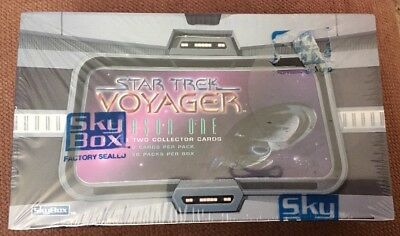 Star Trek Voyager Season One Series Two Collector Cards Sealed Wax Box Skybox
