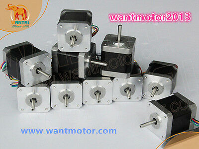 Germany Free! 10PCS Nema17 Stepper Motor 42BYGHW804 4800g.cm 1.2A 48mm 2Ph 4lead