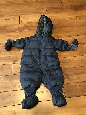 e8e775450 BABY GAP BABY boy puffer snow suit pre-owned 0-6 months -  29.00 ...