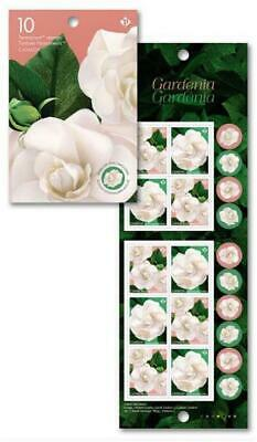 "2019 Canada ~ BOOKLET 10 ""P"" Stamps ~ GARDENIA ~ FREE SHIPPING Canada & USA"