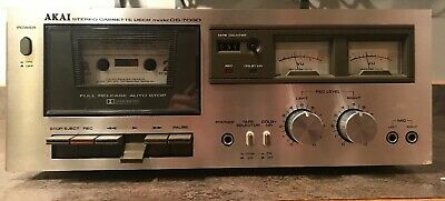Awesome Akai CS-703D 2-Head Stereo Cassette Deck - Tested! Works Great Ex