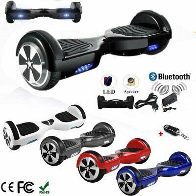 """Hoverboard 6.5"""" Luci Led E Bluetooth Speaker Scooter Overboard Vari Colori @Rx"""