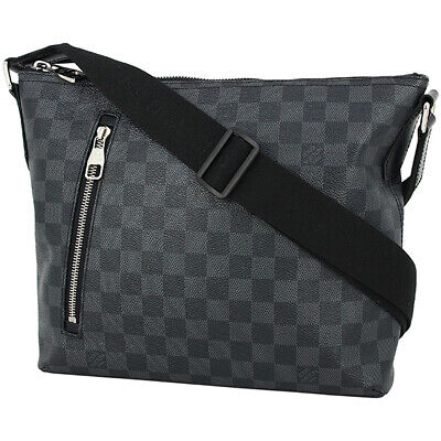 d6b11a4df3bb Auth Louis Vuitton Mick Pm Damier Graphite Black Shoulder Bag Messenger Bag  Men