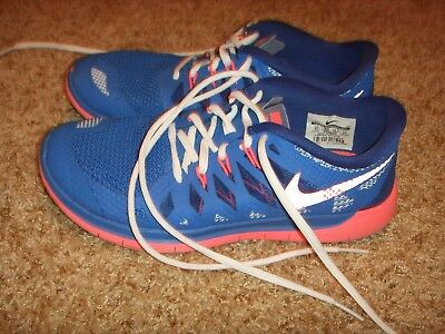 9172917ac091c Nike Free 5.0 GS running shoes 644446 400 Blue White Pink Size 5Youth