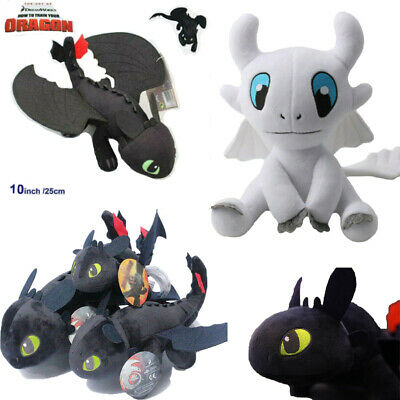 How To Train your Dragon Doll Night Fury 3 Black/White Toothless Plush Toys Gift