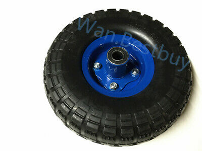 """2x10"""" Hand Trolley Wheel puncture proof 4.1o/3.50-4 Solid Heavy Duty No Air 16mm"""