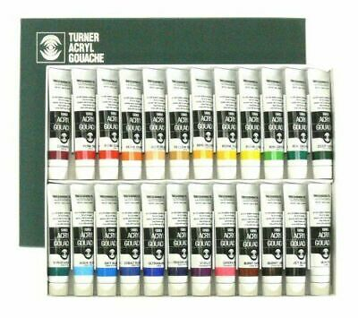 [Set of 24] Turner Acrylic Paint Set Artist Acryl Gouache 20ml Tubes from Japan