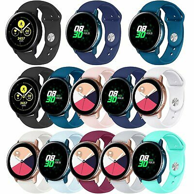 Large/Small Silicone WristWatch Band Strap Bands For Samsung Galaxy Watch Active