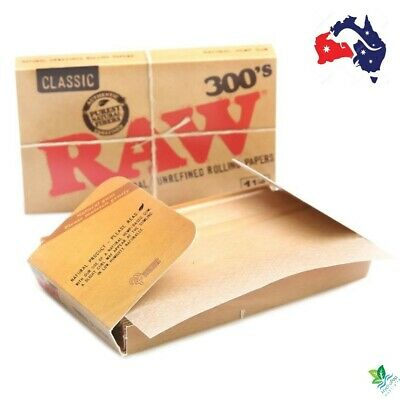 3 X RAW Classic 1 1/4 Rolling Papers, Creaseless , 300 Leaves/Don't Buy fake RAW