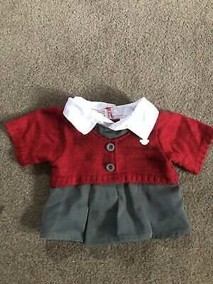 Build A Bear BAB School Girl Dress Uk Grey White Grey All In One