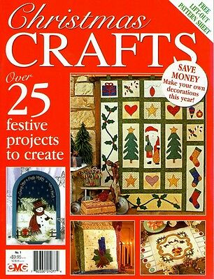 Christmas Crafts No 1. Magazine.  2009. Pattern Sheets Attached
