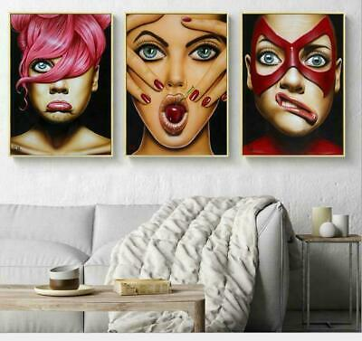 Stylish Person Figure Abstract Wall Art Oil Painting Canvas Painted Poster NEW