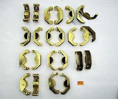 R2) Antique Brass Stair Rod Bracket. Price is per pair, for 2cm curved rods
