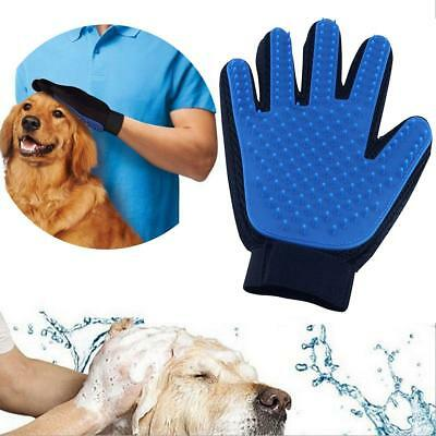Dog Cat Grooming Brush Pet Massage Glove Comb Hair Removal Fur Deshedding Tool