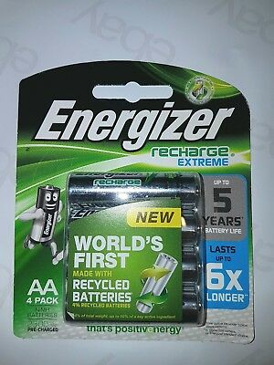 AA Energizer Rechargeable 4 pack batteries 1.2V 2300mAh (various quantities)