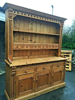 Large Vintage Farmhouse Pine Welsh Dresser