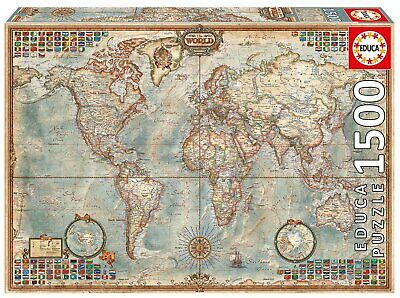 Map Of Uk 1500.Map Of The World 1500 Piece Educa Jigsaw Puzzle 15 99 Picclick Uk