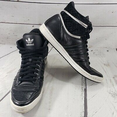 ed424d8d1fd0 Adidas Shoes Size 7.5 Sleek Series Womens Hi Top Black White Used Condition