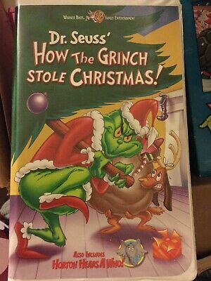 How The Grinch Stole Christmas 2000 Vhs.New How The Grinch Stole Christmas 1966 Vhs 2000 Clam Shell Horton Hears A Who